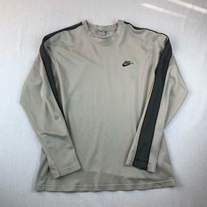 Vintage Nike Embroidered Swoosh Long Sleeve Shirt